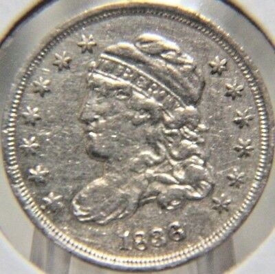1836 H10C Small 5C Capped Bust Half Dime - High Grade - Lot # HDCB 27