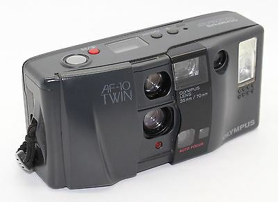 Olympus AF-10 (AF10) Twin Biaxial (twin-lens) system 35mm Film Camera GC/Tested