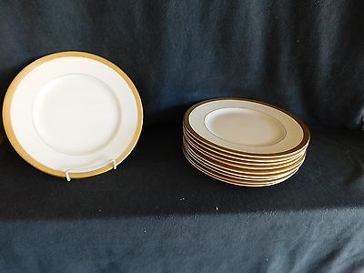"21 Syracuse China OP CO Old Ivory Bracelet 10"" Dinner Plates EXCELLENT"