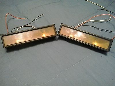 code 3 pse as-2 all amber dash deck warning lights, one pair