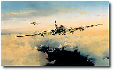 Helping Hand by Robert Taylor - Signed by 8 Pilots - B-17 Aviation Art Prints