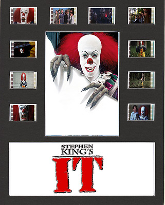IT replica Film Cell Presentation 10 x 8 Mounted 10 cells Pennywise