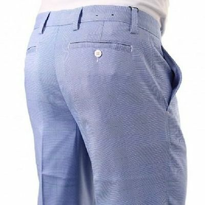 The FootJoy Men's Prince of Wales Check Trouser Blue 92217 Reef Collection