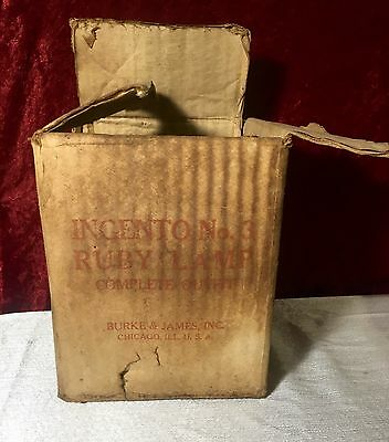 VERY RARE Vintage Darkroom Safety Light Ingento No.3 Ruby Lamp Complete Outfit