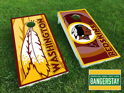 Handcrafted Cornhole Boards with Scorestrip- Washington Redskins (WR2)