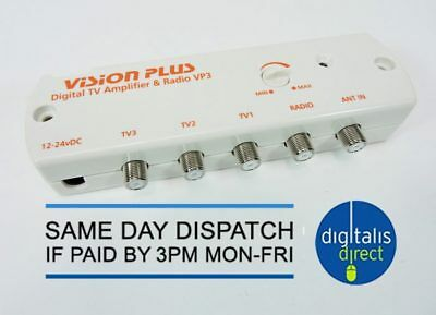 Vision Plus VP3 Digital Amplifier Caravan Television TV Aerial Signal Booster