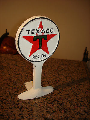 Cast Iron Texaco Gas Station Sign Display Doorstop Paperweight