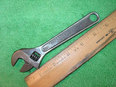 VINTAGE J.H.WILLIAMS & Co. 6'' ADJUSTABLE WRENCH ''SUPERJUSTABLE'' MADE IN USA