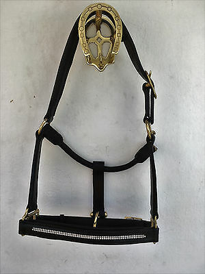 Diamonte Leather Head Collar.pony, Cob, Full & X-Full