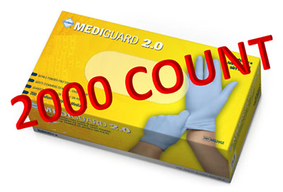 MediGuard 2.0 Nitrile - Medical Grade Exam Gloves - Size Small - 2000/case
