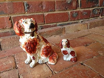 Wally Dug Staffordshire Mantel Ornaments - Antique