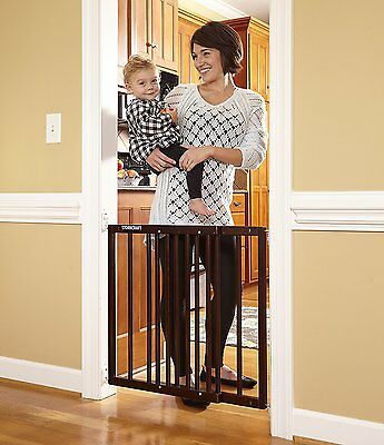 Baby Walk-Thru Gate For Stairs,Wooden Swing Door Pet Supplies For Dogs Safety