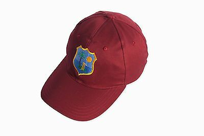 High Quality Cricket Baseball Style Cap With West Indies Logo Adults Adjustable