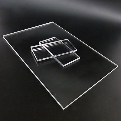 Clear Plastic Sheet Panel Acrylic Plexiglass Plate Thick 2/4/5mm DIY Model Craft