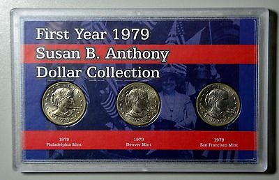 "(3) ""1979 Susan B Anthony"" First Year Issue, P, D, and S"