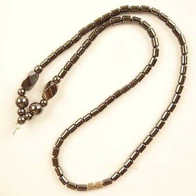 1 Strand Beautiful Hematite Necklace 17.5 inch L527