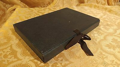 1959 Velvet Lined Box Fine Book Snowflake Antique Christmas Book Collectible