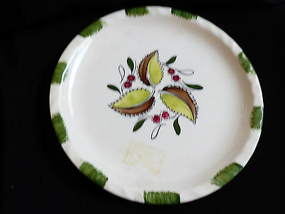 "Blue Ridge Southern Potteries round serving plate Platter 10.5"" leaf berries"
