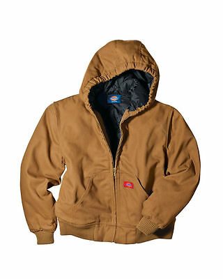 Dickies Sanded Duck Insulated Hooded Jacket Boys Size M 10 - 12