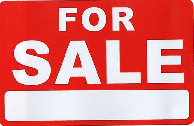 Red/White For Sale Sign with space for your own words