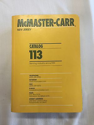 McMaster Carr Catalog 113 New Jersey