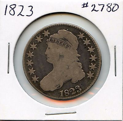 1823 50C Capped Bust Silver Half Dollar. Circulated. Lot #2557