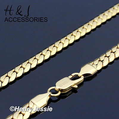 "18-40""MEN 316L Stainless Steel 6mm Gold Miami Cuban Curb Link Chain Necklace*155"