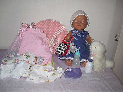 Zapf Creations baby born doll, original ZC outfits, dresses, accessories