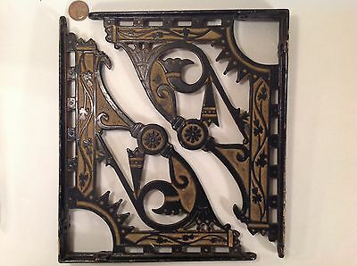 VTG Old Art Deco Large Shelf Brackets Ornate Wall Mount Architectural Salvage