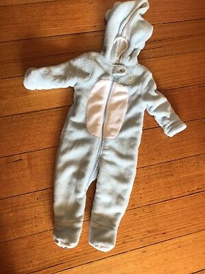 baby boys Bodysuit / Romper/Peter Rabbit Hooded One Piece ! Like New