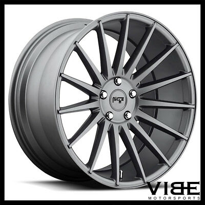 "20"" NICHE FORM GUNMETAL CONCAVE WHEELS RIMS FITS BMW E39 525i 528i 530i 540i"