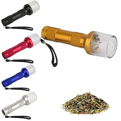 Aluminum Electronic Battery Operated Grinder Crusher for Herbs Spices Tobacco