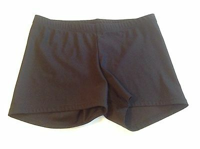 Katrina Wear Basic Black Dance Shorts Ballet Nylon Spandex Size Medium Women's