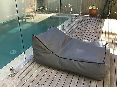 Lounger Bean Bag Chair Sofa Indoor Outdoor Water Resistant Day Bed - CHARCOAL