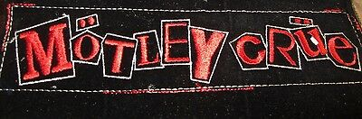 MOTLEY CRUE  EMBROIDERED PATCH   10 x 3