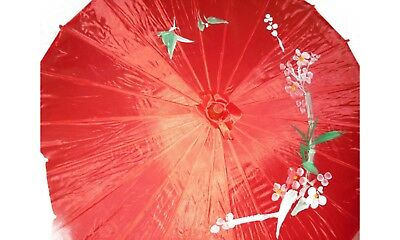Joblot of 10 Chinese Silk & Bamboo Umbrella Parasol New Wholesale Lot A