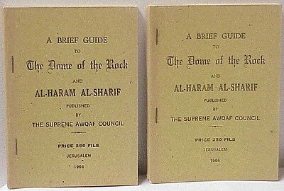 Two Vintage 1965 A Brief Guide To The Dome Of The Rock The Supreme Awqaf Council