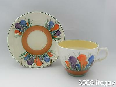 VINTAGE- **Early** CLARICE CLIFF - **Crocus**  DUO - Cup / Saucer  - Excellent