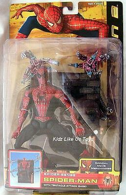 "~ Spiderman 2 - 6"" ACTION FIGURE with ATTACK BASE"