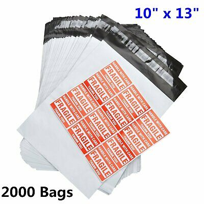 2000 10x13 Poly Mailer Polybag Shipping Plastic Bag Self Sealing Envelope 2.5Mil