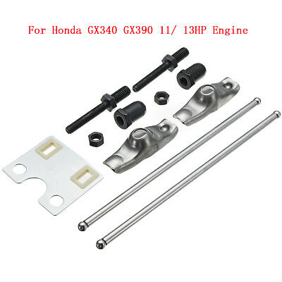 Valve Push Rod & Guide Plate & Rocker Arms For Honda GX340 GX390 11/ 13HP Engine