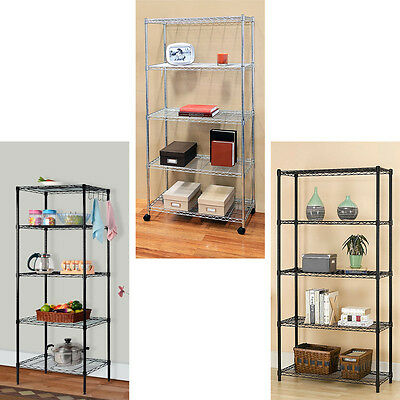 Garage Heavy Duty Shelf Steel Metal Storage 5 Level Adjustable Shelves Unit