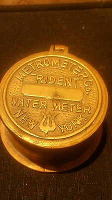 Metrometer Co. Trident Water Meter, New York, Trinket Box, Brass