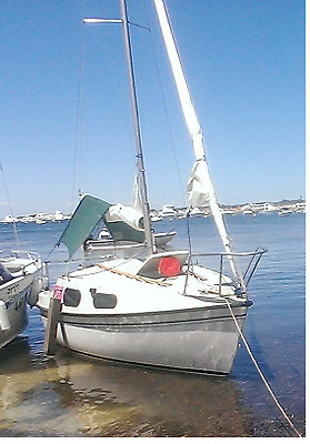 Princess 18 Trailer Sailer sail boat with outboard
