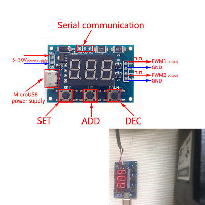 Dual Channel Square PWM Pulse Wave Signal Generator Module for Stepper Motor