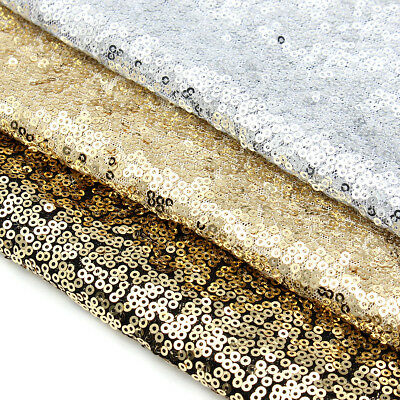 """Gold/Silver/Champagne Sequin Decor Table Runner Cloth For Wedding/Party 12""""x79"""""""