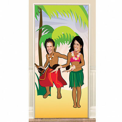 Hawaiian Hula Dancers Doorway Photo Prop Poster