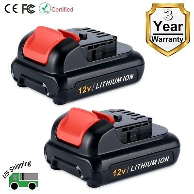 2 Pack 12V MAX Lithium ion Replacement Battery for Dewalt DCB120 DCB127 DCB121
