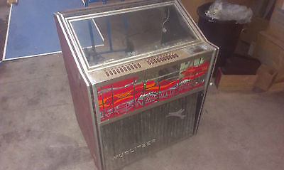 Empty Wurlitzer Jukebox Cabinet With Speakers And Selection Keys Barnfind