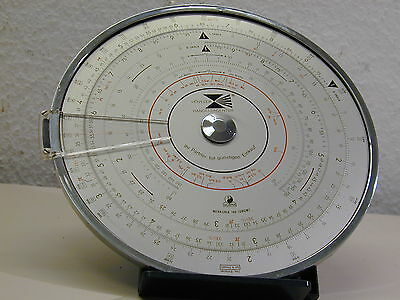 VINTAGE MERKURIA 190 CIRCULAR SLIDE RULE WITH POUCH from NORMA